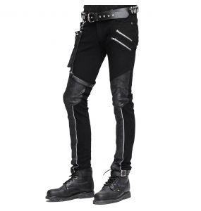 Black 'Dark Punk' Male's Pants