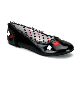 Black Patent 'Alice' Ballerinas for Children