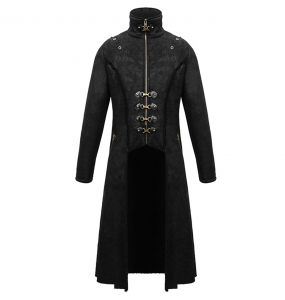Black 'Viserion' Coat