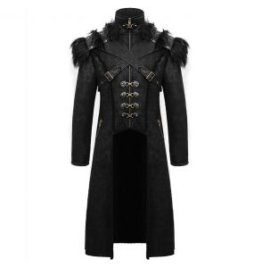 Black 'Viserion' Coat