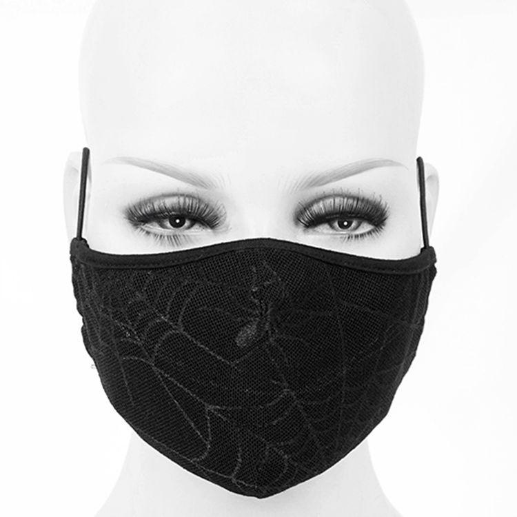 Black 'Spider Web' Face Mask