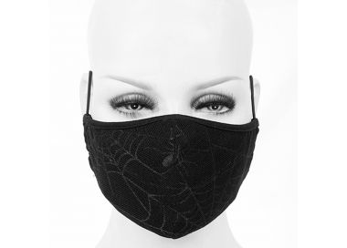 Black 'Spider Web' Face Mask