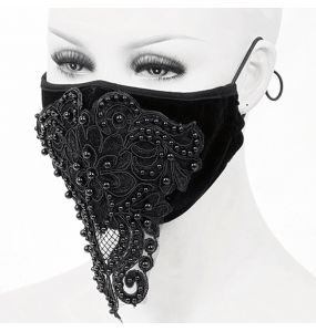 Black 'Gothic Butterfly' Face Mask