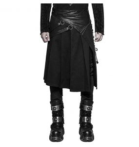 Black 'Catharsis' Male's Kilt