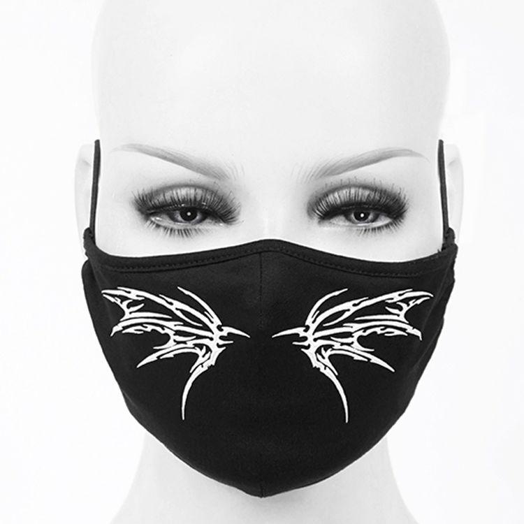 Black 'White Butterfly' Face Mask