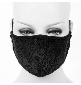 Black 'Brocade' Face Mask