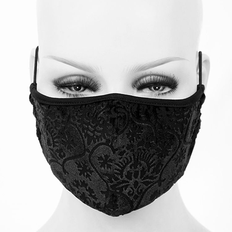 Black 'Brocade' Face Mask