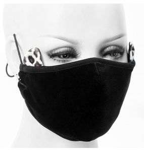 Black 'Velvet Leo' Face Mask
