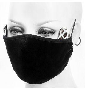 Black 'Velvet Leo' Face Mask