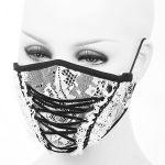 Masque 'White Lace' Blanc et Noir