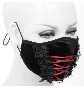 Masque en Velours avec Broderies Noir