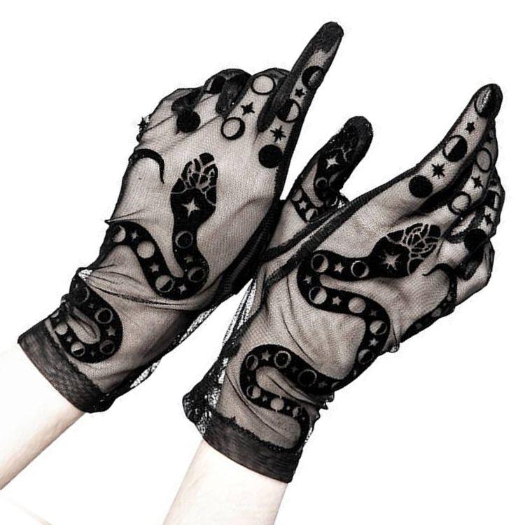Gants 'Snake' Noirs