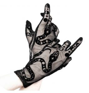 Black 'Snake' Gloves
