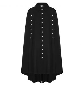 Black 'Guardian' Long Cloak