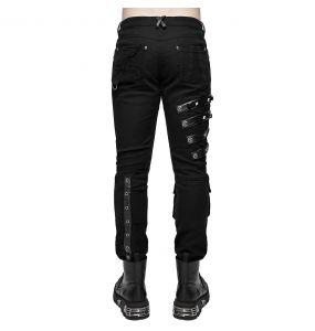 Pantalon 'Acanthus' en Jean Noir