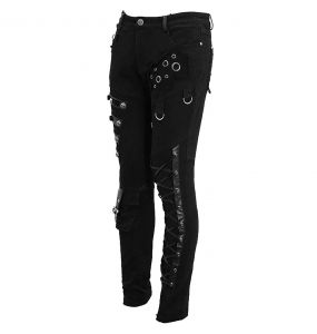 Black Denim 'Acanthus' Pants