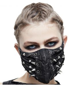 Masque 'Silver Pinned' Noir