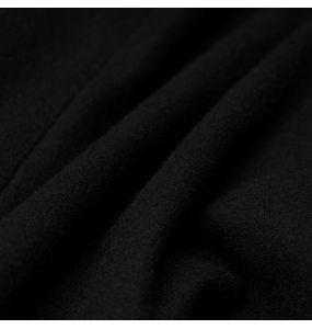 Manteau Long Brodé 'Maelyss' Noir