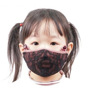 Pink 'Cat's Ears' Face Mask for Kids