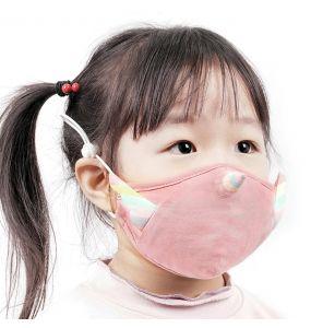 Masque pour Enfants 'Unicorn' Rose