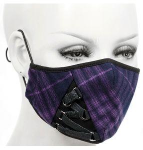 Masque Mauve avec Laçage Noir