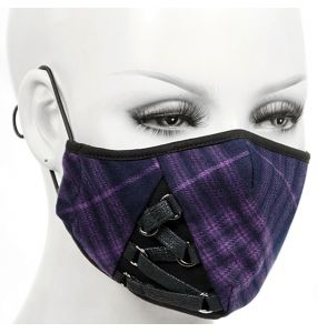 Puple Face Mask with Black Laces