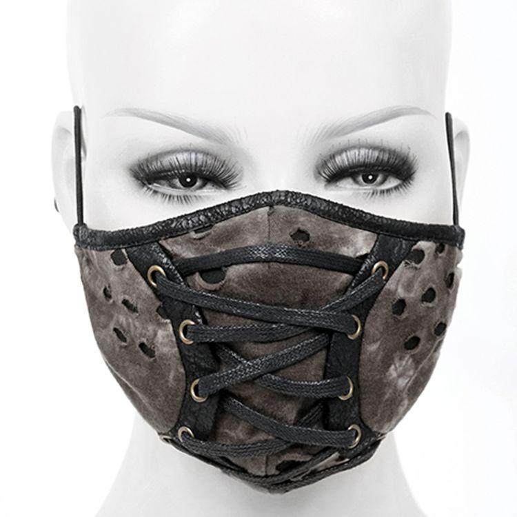 Masque Lacé sur le Devant Noir et Marron