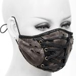 Black and Brown Laced Face Mask