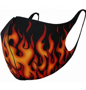 Masque 'Tribal Flames' Noir