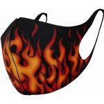 Black 'Tribal Flames' Face Mask