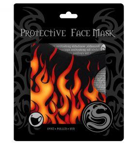 Masque 'Tribal Flames' Noir