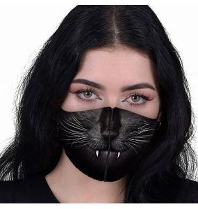 Black 'Cat Fangs' Face Mask