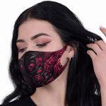 Black 'Blood Rose' Face Mask