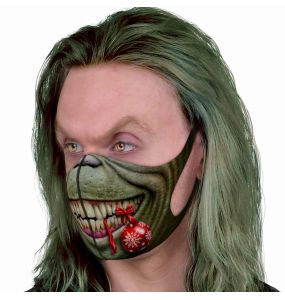 Green 'Grouch' Face Mask
