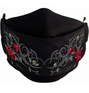 Masque 'Tribal Rose' Noir