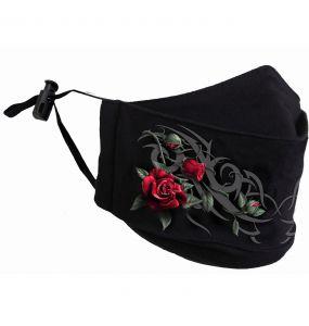 Masque 'Tribal Rose' Noir