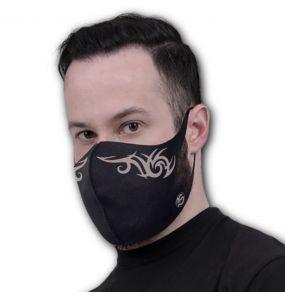 Black 'Tribal Mask' Face Mask