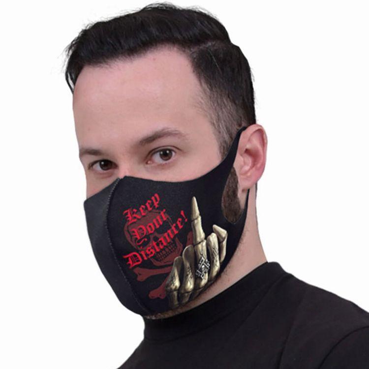 Masque 'Keep Your Distance' Noir