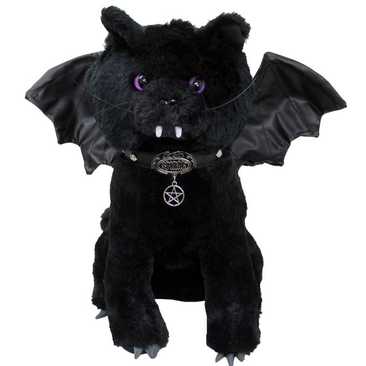 Black 'Bat Cat' Plush Cat