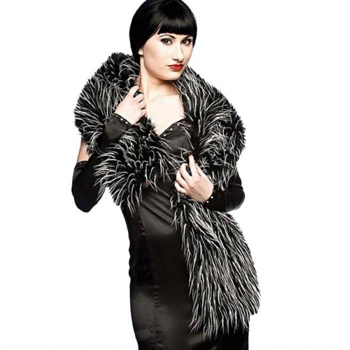 Scarf 'Black and White Fake Fur'