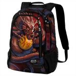 Black 'Samourai' Back Pack with Laptop Pocket