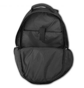 Black 'Skull Armor' Back Pack with Laptop Pocket