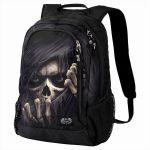 Black 'Grim Ripper' Back Pack with Laptop Pocket