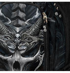 Sac à Dos 'Skull Armor' Noir avec Poche pour Laptop