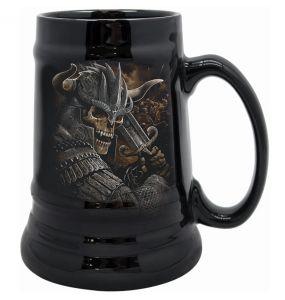Chope à Bière 'Viking Warrior' en Céramique