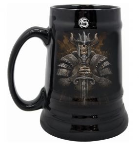 Viking Warrior Ceramic Beer Mug