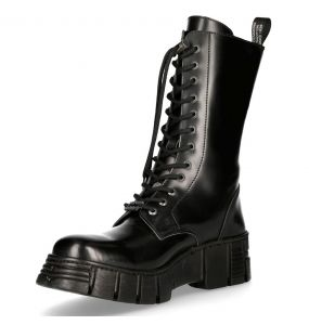 Black Antik Leather New Rock Wall High Boots