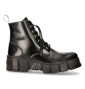 Black Antik New Rock Wall Boots
