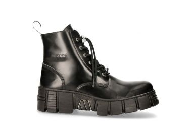 Bottines New Rock Wall Antik Noires