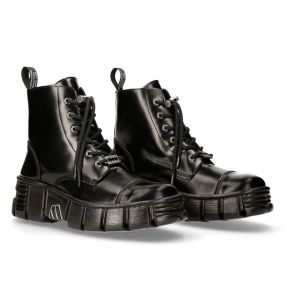 Black New Rock Wall Boots